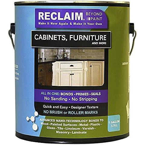 Reclamar RC18 blanco, armario, protectoras para muebles más pintura/ahora puedes reclamar casi cualquier superficie con esta combinación primer/acabado sin levantar sin - / sellador manual para tiras de papel de lija sin bomba de cebado, 1 gallon