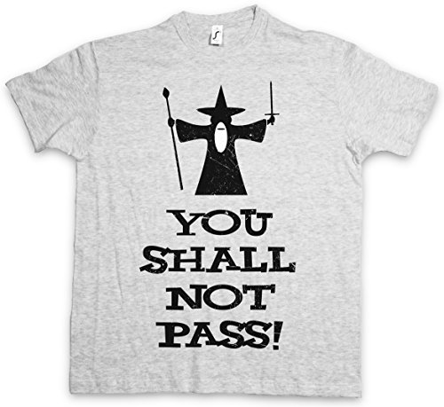 YOU SHALL NOT PASS T-SHIRT - Lord Il Signore Gandalf of the Balrog Rings degli Anelli Frodo Moria Taglie S - 5XL