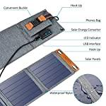 Solar Charger, CHOETECH 14W Waterproof Portable USB Outdoor Solar Panel Charger with 4 Foldable Solar Panel for… 13