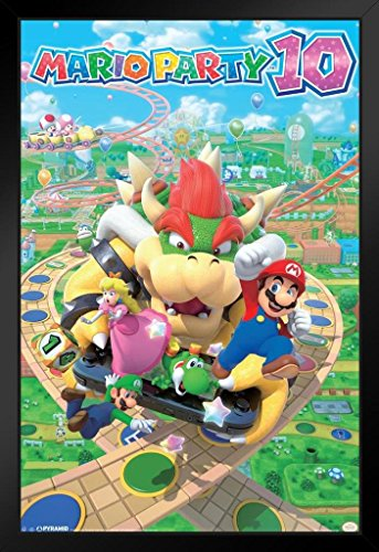 Pyramid America Nintendo WII U 2015 Party Video Game Series ND Cube Bowser Mini Spiele 14x20 inches Framed Poster - Für Wii Mini-spiele