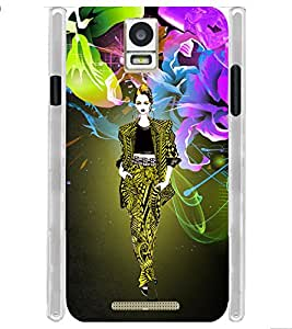 Tribal Colorful Fashion Girl Soft Silicon Rubberized Back Case Cover for Xolo Era