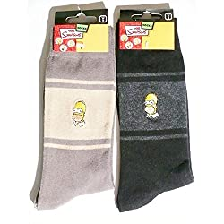 Embroidered Homer Simpson The Simpsons Socks - Multicolour -