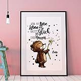 A3 Print Poster mit Baby Bär & Spruch