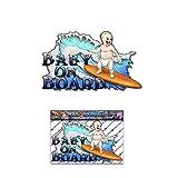 Bébé à bord drôle Kids Surf autocollants voiture autocollants de voiture - ST00001_SML - Stickers JAS