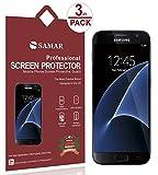 SAMAR® - Pack de 6 protectores de pantalla de calidad excepcional para Samsung Galaxy S6 (edición de 2015) - Incluye gamuza de microfibra