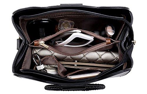 Borsa del cerchio, anello borsa di estate coreana, sacchetto obliquo selvaggio semplice di modo personalizzato ( Colore : Nero ) Grigio