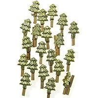 Occassions - Mollette chiudipacco con abete dorato, 20 pezzi