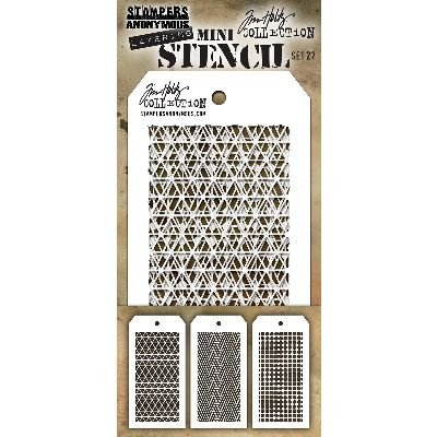 Art Gone Wild Tim Holtz Set 27 Schablone, transparent, Mini - Tim Holtz Dots