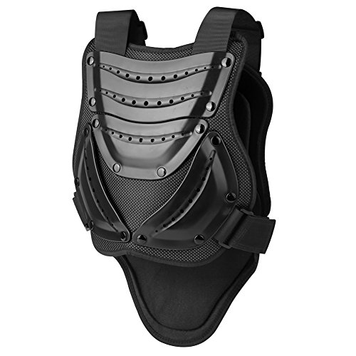 Pellor Unisex Brustpanzer Schutzweste Radfahren Motorrad Motocross Anti-Fall Schutzausrüstung (Schwarz-XL)