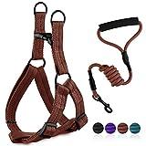 Gepolstert Hund Weben Leine Seil Set, MOSTY Einstellbare Hundegeschirr Weste Stil Leine mit Break und Lock-Taste für Sicherheit Haustiere