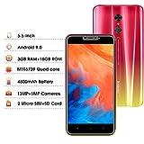 Smartphone Offerta Del Giorno 4G Android 9.0 3GB RAM 16GB ROM(128 GB Scalabili) Cellulari offerte 5.85 Pollici HD+ 4800mAh Face ID Camera 13MP DUODUOGO G55 Telefonia Mobile WIFI Double SIM (Rosso)