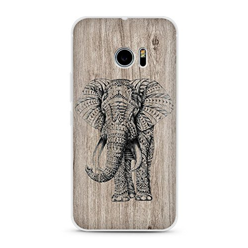 Handyhülle für HTC 10 - TPU Silikon Schutzhülle - Hülle mit Motiv - Design Case - Cover - Backcover - Handy Schale (Elefant)