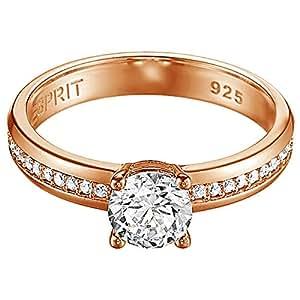 Esprit Jewels Damen-Ring 925 Sterling Silber grace glam rose Gr. 50 (15.9) ESRG91609C160