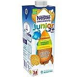 Nestlé Junior Crecimiento 2+galleta María - Leche para niños a partir de 2 años - 6 x 1 L