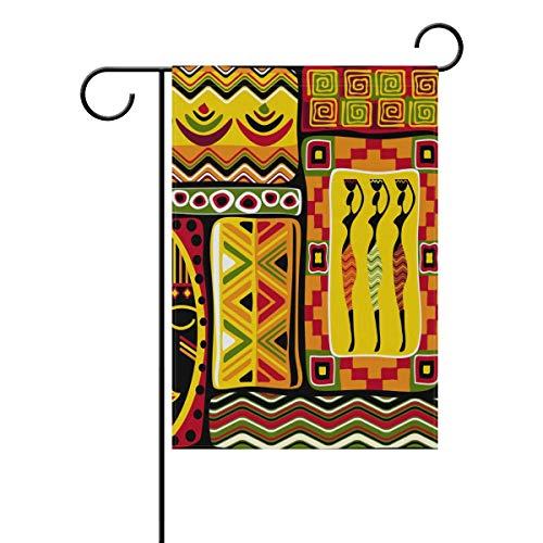 Gardenflagge Afrikanischer Vektor, nahtlos, 30,5 x 45,7 cm, Banner, doppelseitig, für Rasen und Hof, Außendekoration, Polyester, Image 1181, 28x40(in)