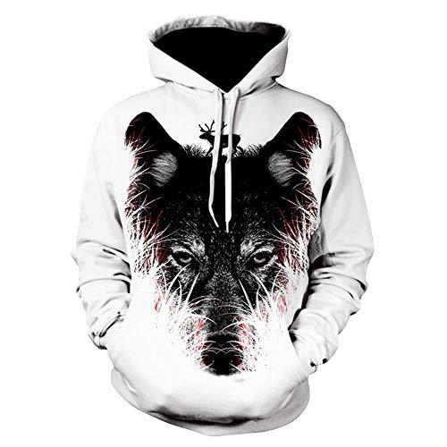 Realistische Wolf Anzug - LXJJF Unisex 3D Hoodie Mode 3D
