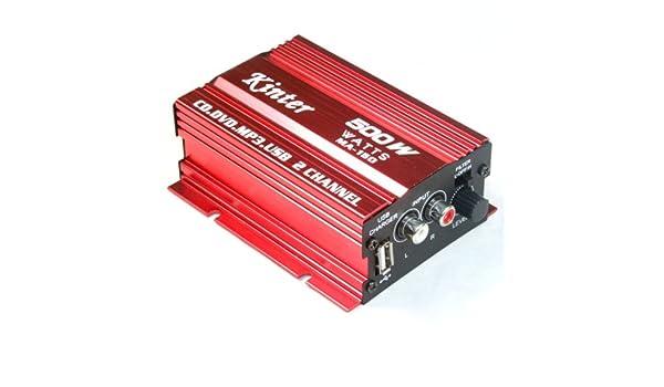 DC 9-15V 500W 2-Kanal-Lautsprecher MP3 Motorrad Roller ATV Verst/ärker AMP AMPS