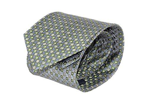 Cravatta uomo classica LANCETTI grigia 100% seta con fantasia B435