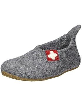 Living Kitzbühel Unisex-Kinder Slipper Schweizer Kreuz Kaser Hausschuhe