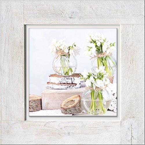 Pro-Art-Bilderpalette hrg1173a - Cuadro de Pared de Madera Vintage con Flores Blancas y Amarillas II