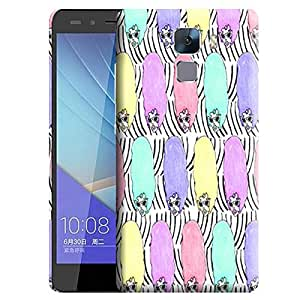 Theskinmantra Colored hair lady back cover for Huawei Honor 7