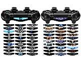 EXtremeRate® 60 StückWiederverwendbares Karikatur&Horrorfilm-Thema Lightbar Decal Stickers Schützende Aufkleber Vinyl Wrap Decals Haut für PS4 PlayStation 4 Schlanke Pro Skins -