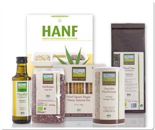 *Probierset Hanf Bio Lebensmittel mit Kochbuch*
