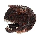 KESOTO Marioneta de Mano Guantes de Cabeza de Dinosaurios Spinosaurus/Triceratops / T-Rex/ Dilophosaurus, Juego de rol para Niños Historias Infantiles - Carnotaurus