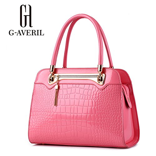 (G-AVERIL) Borse In Pelle Designer Top-Handle Spalla Del Tote Della Borsa Per Le Donne rosa