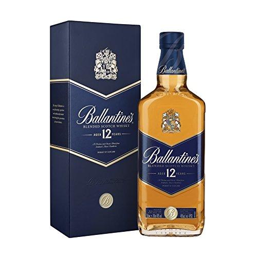 Ballantines 12 Blended Scotch Whisky / 12 Jahre alter milder Blend aus schottischen Malt & Grain Whiskys / Mit Honig-, Fruchtaromen & Gewürznoten / 1 x 0,7 L
