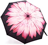 Umbrella | Oak Leaf Automatic Folding Travel Rain Umbrella, Ladies Girls Floral Parasol, Auto Open and Close Compact for Easy Carrying, Windproof, Waterproof - Flower Printed