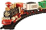 #2: Toyshine Vintage Train with Big Track and Real Smoke Battery Operated with Flashlight