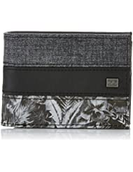 Billabong Tribong Wallet Monedero, Hombre, Gris (Dark Grey Heath), 10 x 2 x 12 cm (W x H x L)