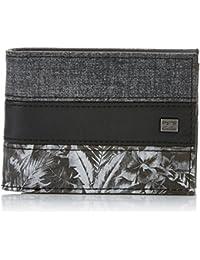 Billabong Tribong Wallet Monedero, Hombre, Gris (Dark Grey Heath), 10 x 2 x 12 cm (W x H x L)