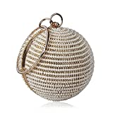 Spherical bag pearl bag clutch Bag Evening Bag Round