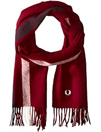 Fred Perry Striped Homme Scarf Rouge