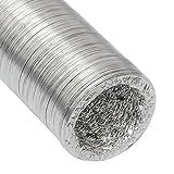 10m Tubo in alluminio per aerazione Ø100mm di eyepower | Corrugato termoresistente flessibile per riscaldamenti e condizionatori | Condotto a spirale per climatizzatori