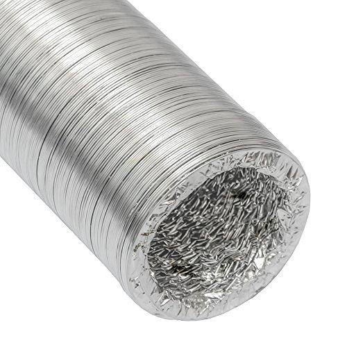 Manguera de Aluminio del conducto de aire de ventilación Ø100mm   Tubo flexible 10m resistente al calor de eyepower
