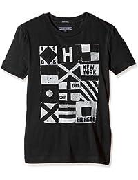 TOMMY HILFIGER KIDS - Logo Cn Tee S/S, Camisa De Pijama de niños, negro, 10