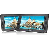 Pumpkin Reproductor de dvd portatil coche 2 pantallas 10 pulgadas (5 Horas Duración, USB