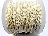 #1: Goelx Pearl chain for bangle-jumka/ jewellery making, 2mm pearl size, pack of 2 meters