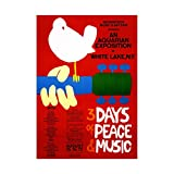 Music Festival Concert Woodstock NY Peace Dove Love Legend Framed Art Print Picture & Mount F12X591
