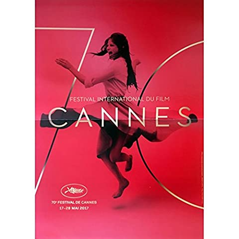 70e FESTIVAL DE CANNES 2017 Affiche Officielle 40x60 cm, pliée