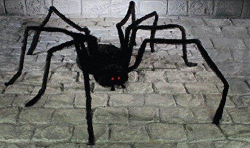 Dekospinne, 2 m, schwarze Spinne groß Deko Halloween, Requisit