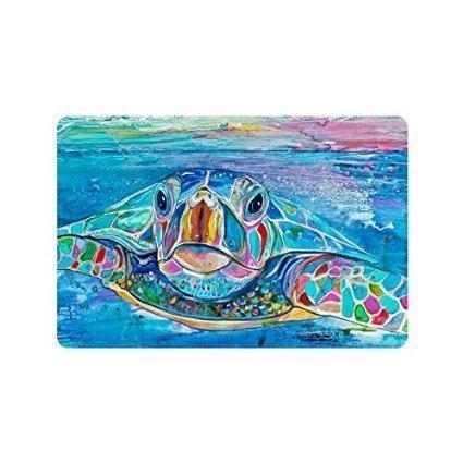 GTdgstdscCustom Ölgemälde Meeresschildkröte dekorative Gummifußmatten für Büro, lustige Welcome-Matten Indoor Home Dekorative Vordertür-Matten maschinenwaschbar 60 x 40 cm