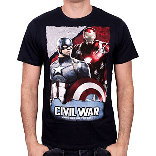Tshirt homme Civil War - Whose Side Are You On - Legend Icon (Top Division T-shirt Blaues)