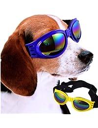 Meisijia Haustiere Hunde Welpen Augenschutzbrille Glas-Brillen UV400 Schutz Sonnenbrillen gvONkUL