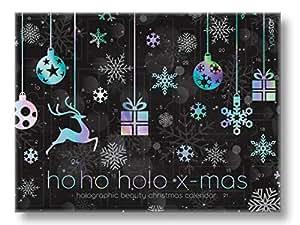 """Make-Up Adventskalender""""HOLOGRAPHIC X-MAS"""" 2018, youstar, 24 hochwertige Produkte, Geschenkset-"""