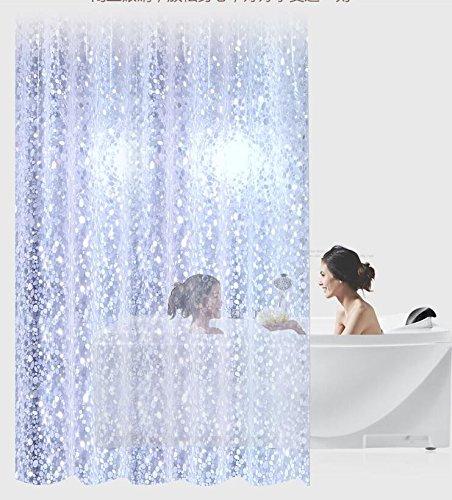 MDRW-Wasserdichte Anti - Schimmel Umweltschutz Transparenten Duschvorhang Elliptische Stein Verdickung Ultra Wide Vorhang Stoffw260 * H200