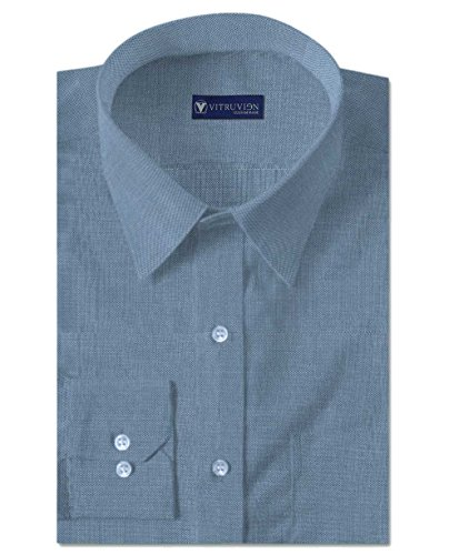 Vitruvien Men's Plain Formal shirt in 2/120's Egyptian Giza Cotton